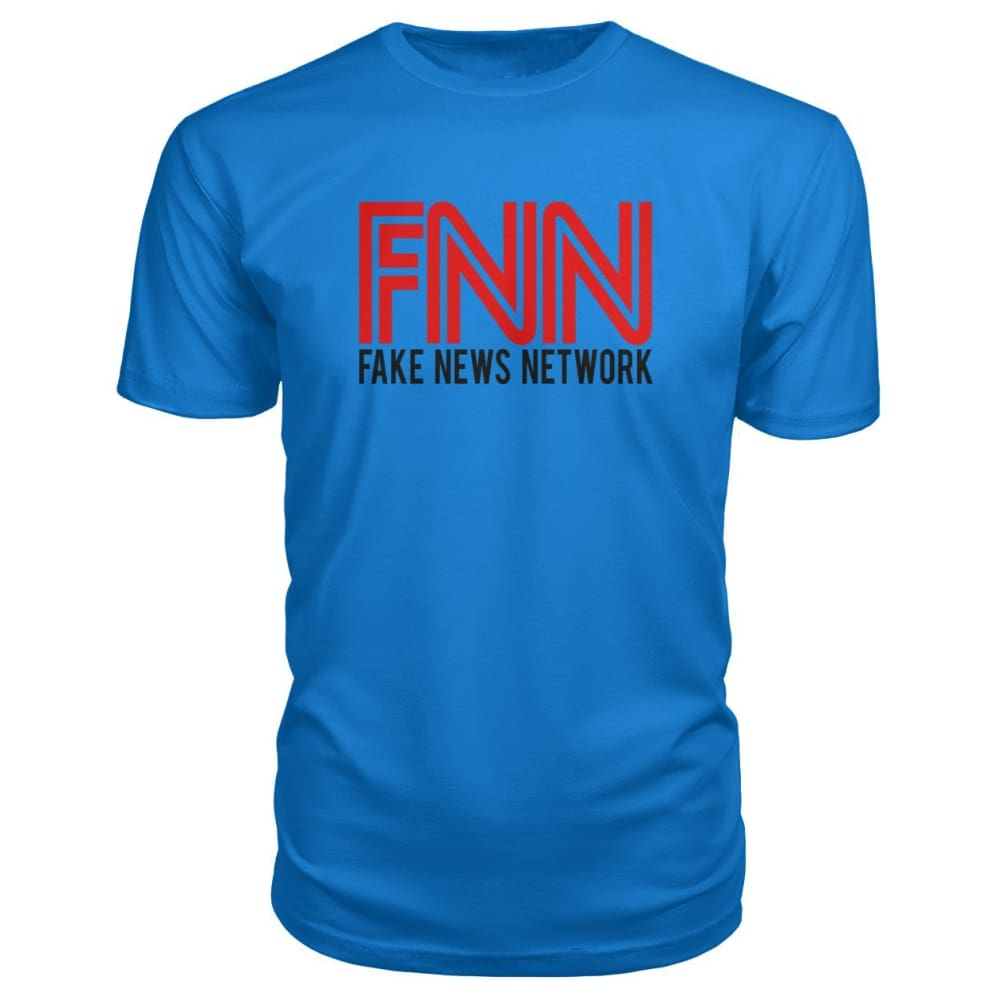 Fake News Network Premium Tee - Royal Blue / S / Premium Unisex Tee - Short Sleeves