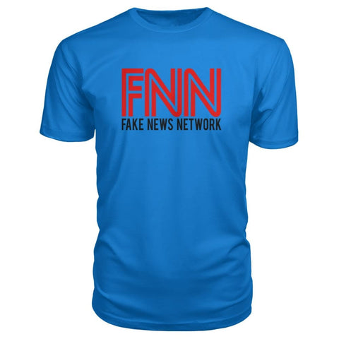 Image of Fake News Network Premium Tee - Royal Blue / S / Premium Unisex Tee - Short Sleeves