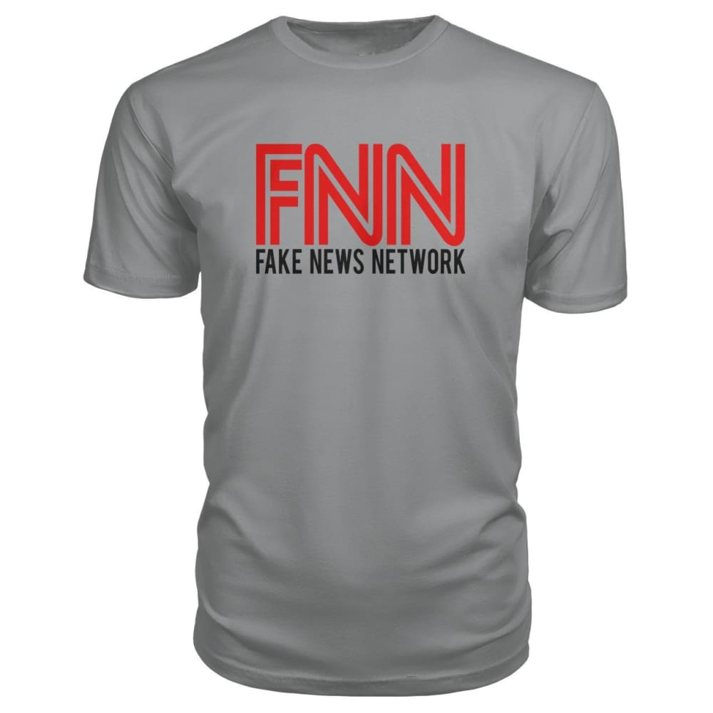 Fake News Network Premium Tee - Storm Grey / S / Premium Unisex Tee - Short Sleeves