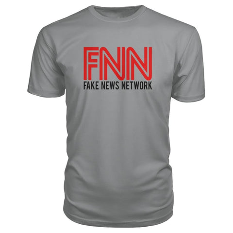 Image of Fake News Network Premium Tee - Storm Grey / S / Premium Unisex Tee - Short Sleeves