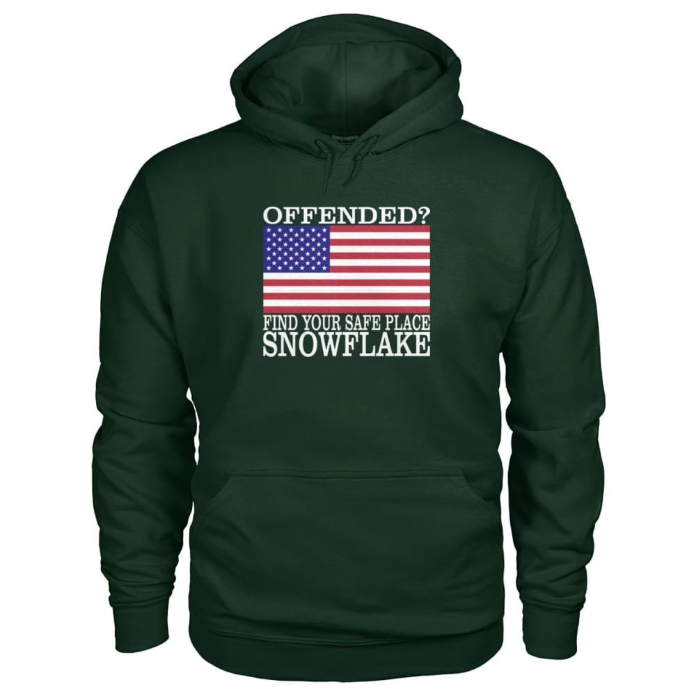 Find Your Safe Place Snowflake Hoodie - Forest Green / S / Gildan Hoodie - Hoodies