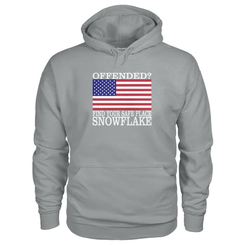 Image of Find Your Safe Place Snowflake Hoodie - Sport Grey / S / Gildan Hoodie - Hoodies