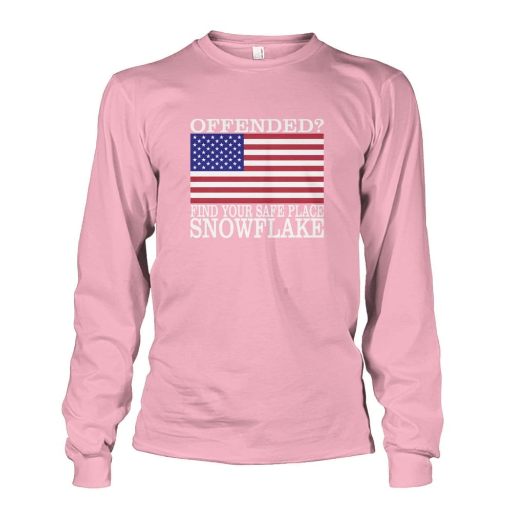 Find Your Safe Place Snowflake Long Sleeve - Light Pink / S / Unisex Long Sleeve - Long Sleeves