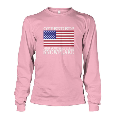Image of Find Your Safe Place Snowflake Long Sleeve - Light Pink / S / Unisex Long Sleeve - Long Sleeves
