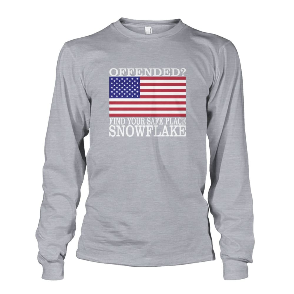 Find Your Safe Place Snowflake Long Sleeve - Sports Grey / S / Unisex Long Sleeve - Long Sleeves