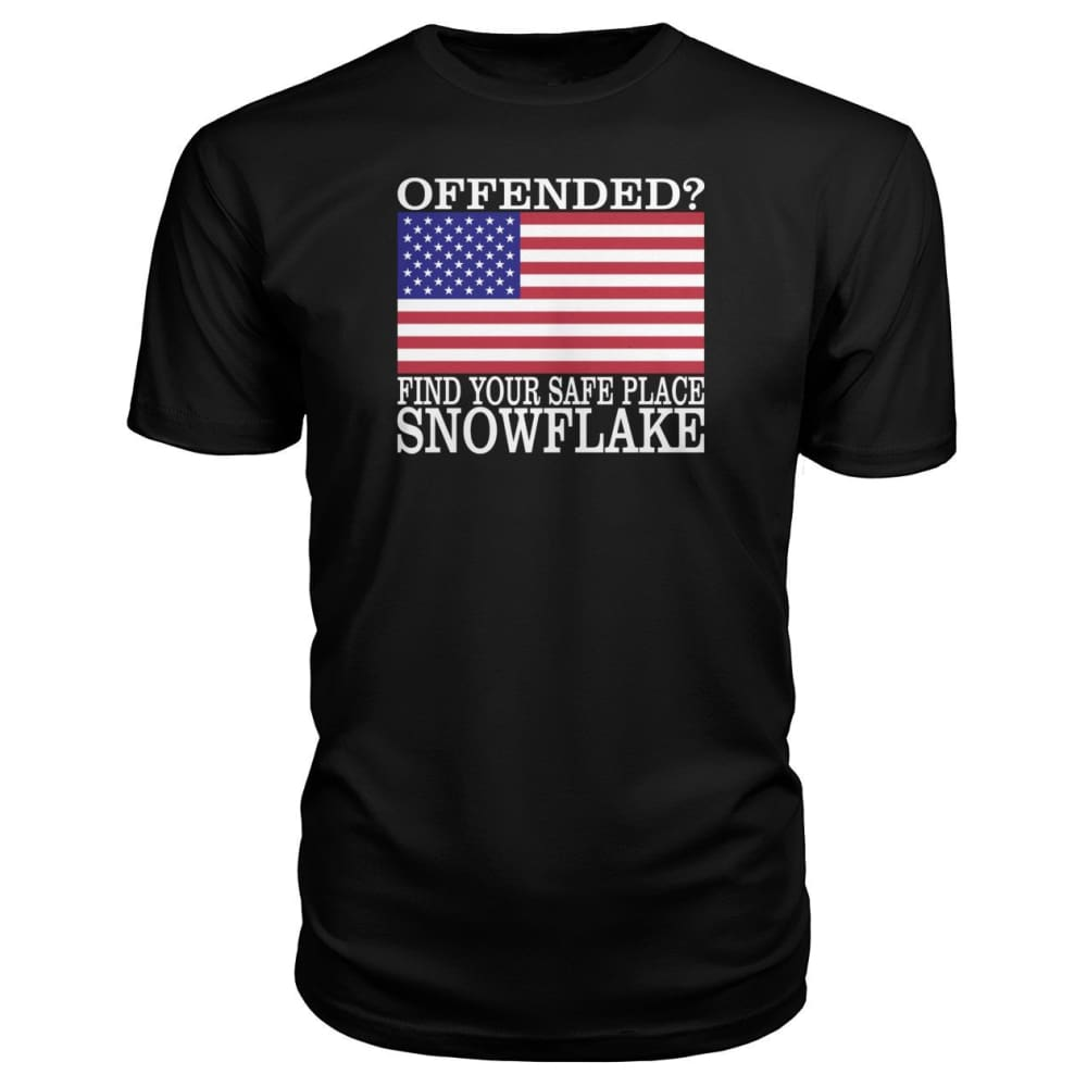 Find Your Safe Place Snowflake Premium Tee - Black / S / Premium Unisex Tee - Short Sleeves