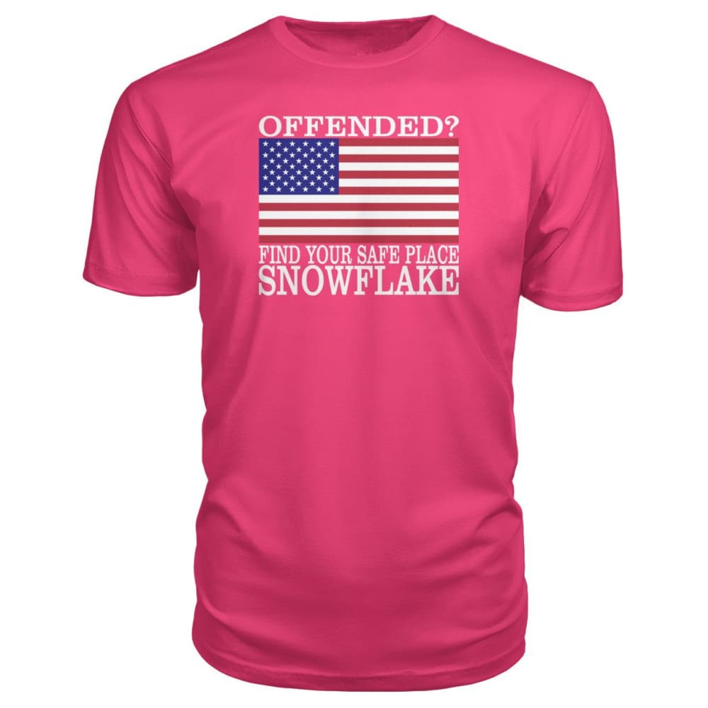 Find Your Safe Place Snowflake Premium Tee - Hot Pink / S / Premium Unisex Tee - Short Sleeves