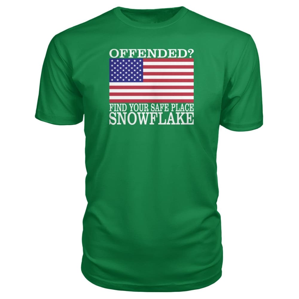 Find Your Safe Place Snowflake Premium Tee - Kelly Green / S / Premium Unisex Tee - Short Sleeves