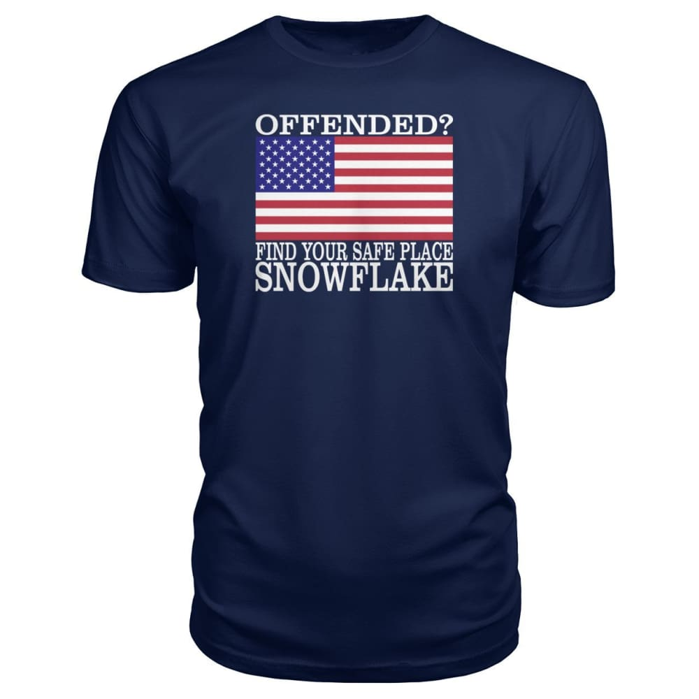 Find Your Safe Place Snowflake Premium Tee - Navy / S / Premium Unisex Tee - Short Sleeves
