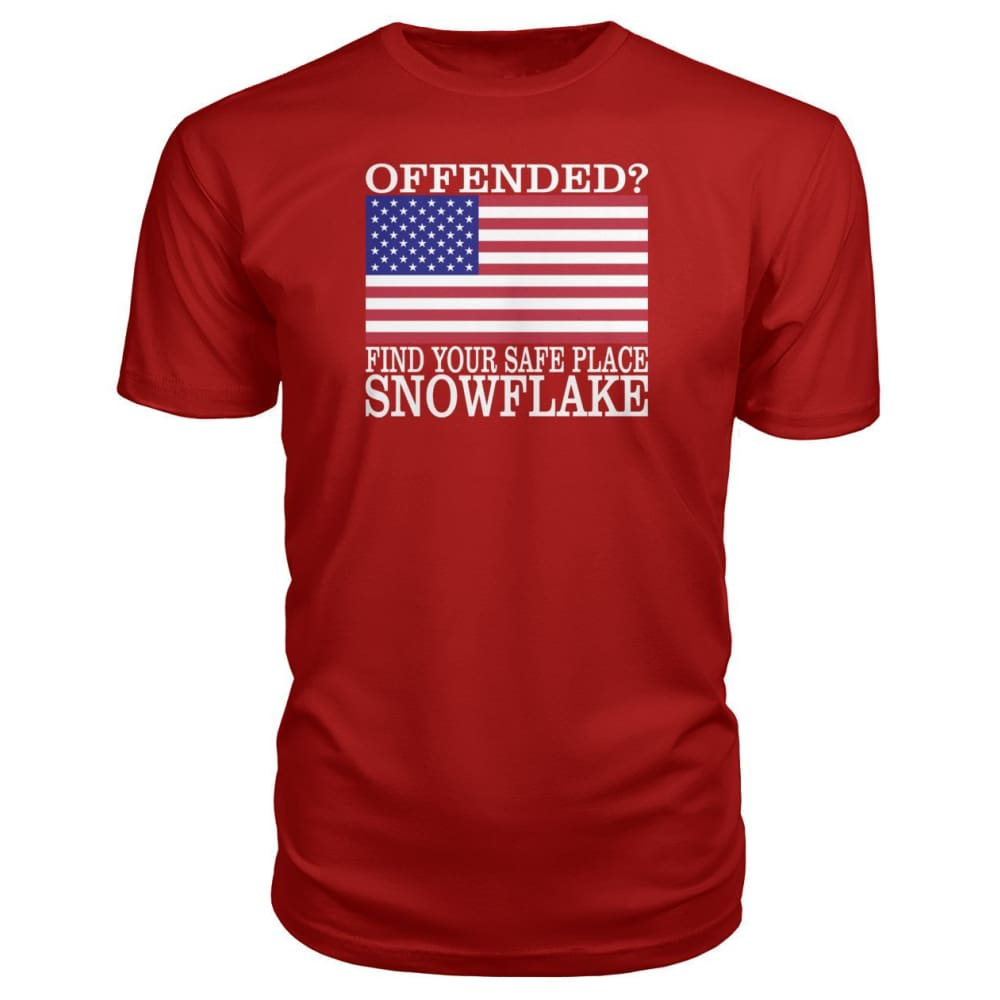 Find Your Safe Place Snowflake Premium Tee - Red / S / Premium Unisex Tee - Short Sleeves