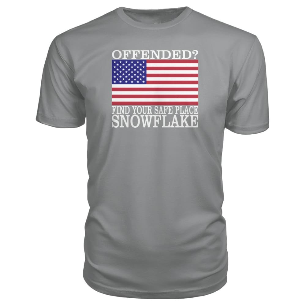 Find Your Safe Place Snowflake Premium Tee - Storm Grey / S / Premium Unisex Tee - Short Sleeves