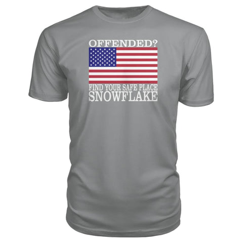 Image of Find Your Safe Place Snowflake Premium Tee - Storm Grey / S / Premium Unisex Tee - Short Sleeves