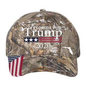 Florida For Trump 2020 *MADE IN THE USA* Hat - Realtree Edge