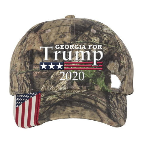Georgia For Trump 2020 *MADE IN THE USA* Hat - Mossy Oak Country