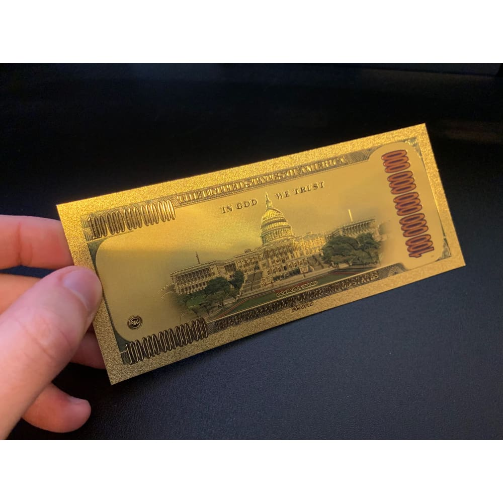 Gold Plated Donald And Melania Trump Commemorative Bank Note
