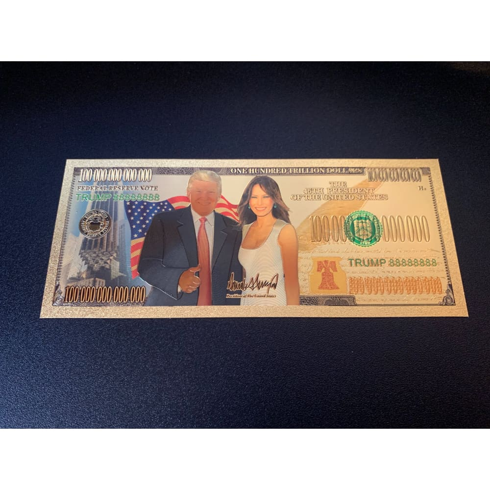 Gold Plated Donald And Melania Trump Commemorative Bank Note - FREE! Just Pay Shipping!