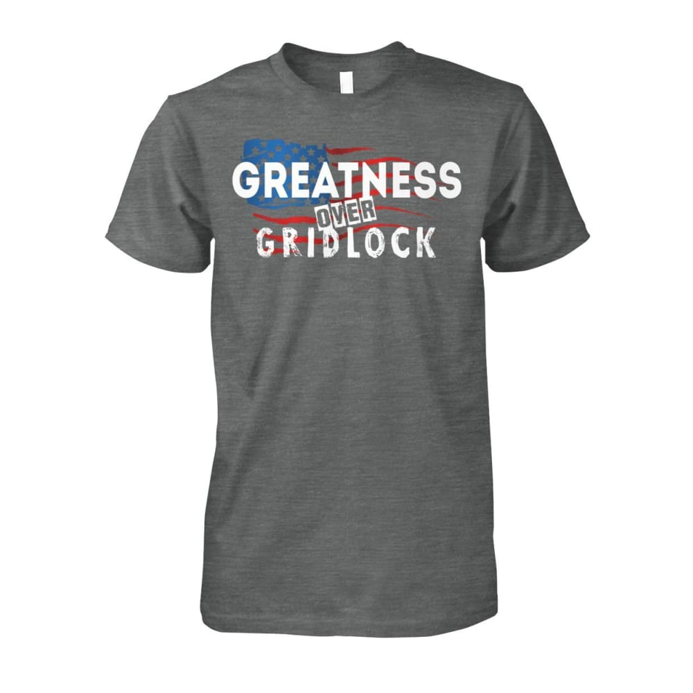 Greatness Over Gridlock Tee - Dark Heather / S / Unisex Cotton Tee - Short Sleeves