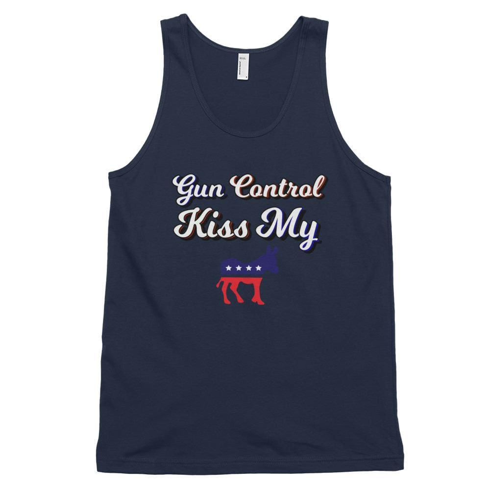 Gun Control *MADE IN THE USA* Unisex Tank Top - Navy / XS