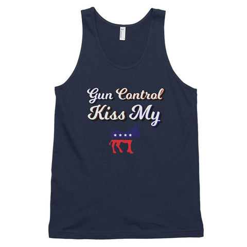 Image of Gun Control *MADE IN THE USA* Unisex Tank Top - Navy / XS