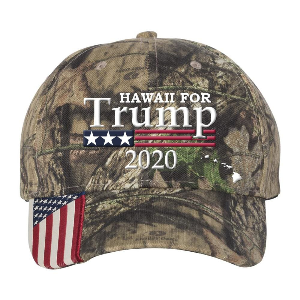 Hawaii For Trump 2020 *MADE IN THE USA* Hat - Mossy Oak Country