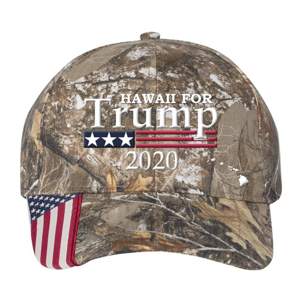 Hawaii For Trump 2020 *MADE IN THE USA* Hat - Realtree Edge