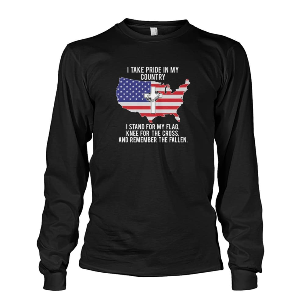I Take Pride In My Country Long Sleeve - Black / S / Unisex Long Sleeve - Long Sleeves