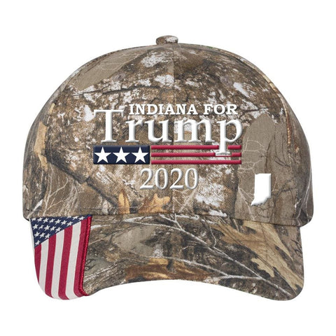 Indiana For Trump 2020 *MADE IN THE USA* Hat - Mossy Oak Country