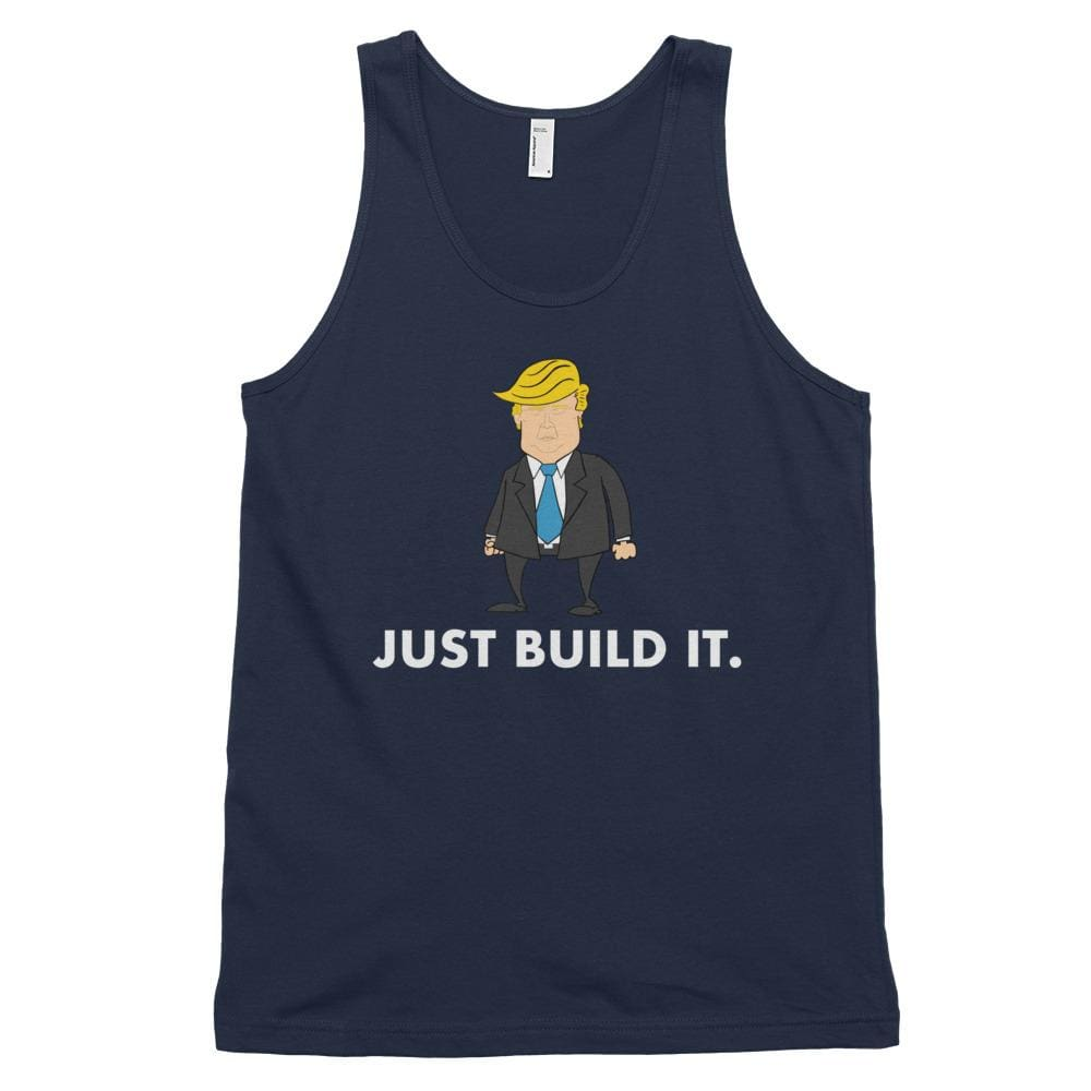 Just Build It *MADE IN THE USA* Unisex Tank Top - Navy / XS