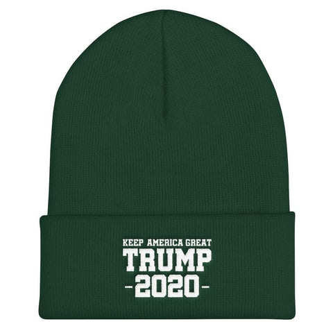Keep America Great Trump 2020 Cuffed Beanie - Spruce