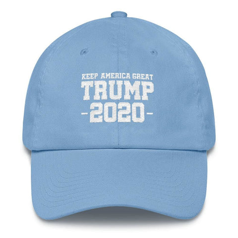 Keep America Great Trump 2020 *MADE IN THE USA* Hat - Carolina Blue