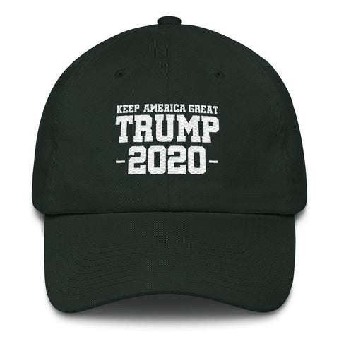 Keep America Great Trump 2020 *MADE IN THE USA* Hat - Forest Green