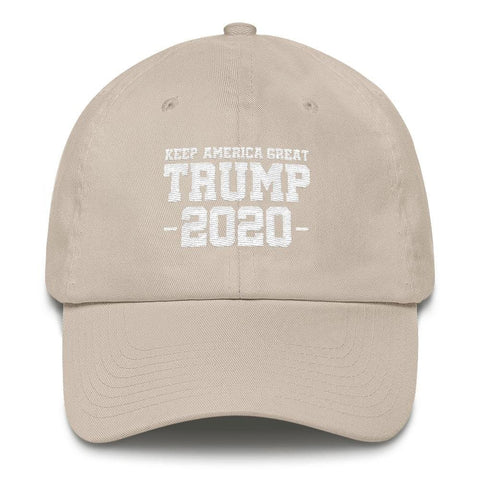 Image of Keep America Great Trump 2020 *MADE IN THE USA* Hat - Stone