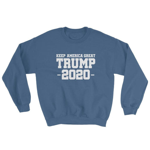 Image of Keep America Great Trump 2020 Sweatshirt - Indigo Blue / S