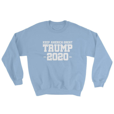 Image of Keep America Great Trump 2020 Sweatshirt - Light Blue / S