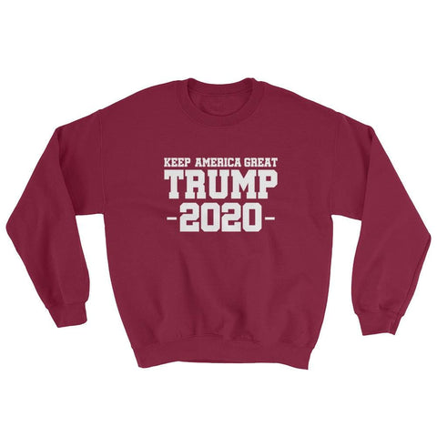 Image of Keep America Great Trump 2020 Sweatshirt - Maroon / S