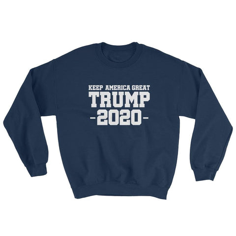 Image of Keep America Great Trump 2020 Sweatshirt - Navy / S