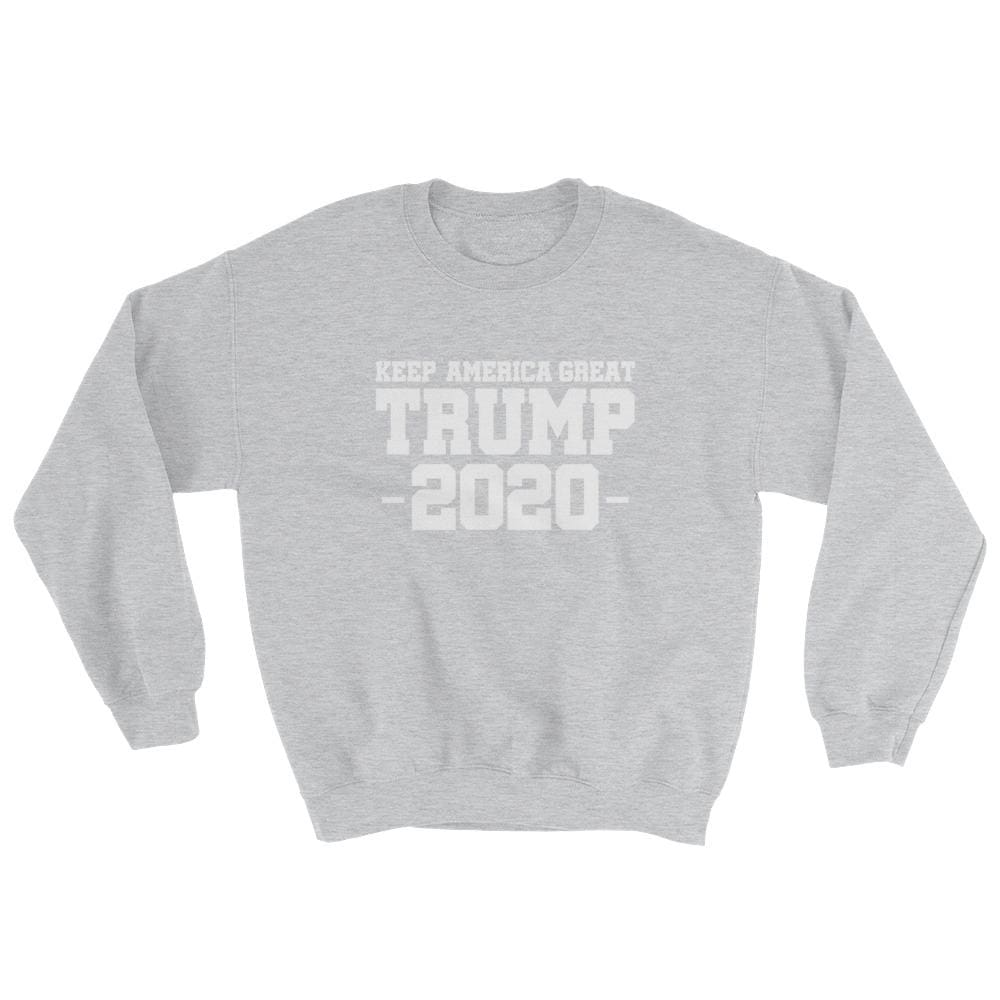 Keep America Great Trump 2020 Sweatshirt - Sport Grey / S