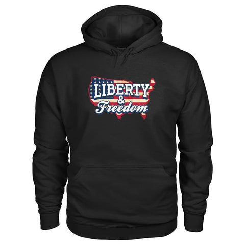 Image of Liberty & Freedom Hoodie - Black / S - Hoodies