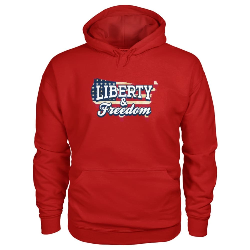 Liberty & Freedom Hoodie - Cherry Red / S - Hoodies