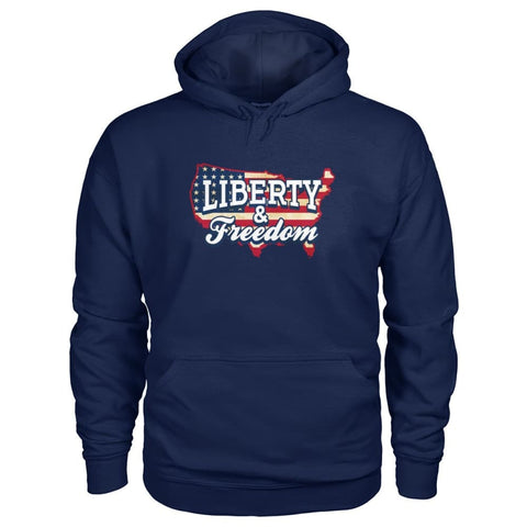 Image of Liberty & Freedom Hoodie - Navy / S - Hoodies