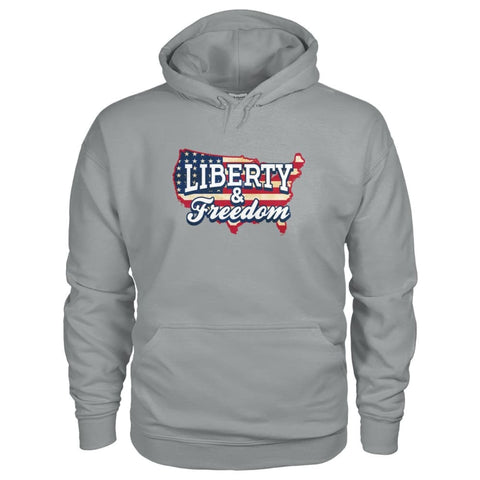 Image of Liberty & Freedom Hoodie - Sport Grey / S - Hoodies