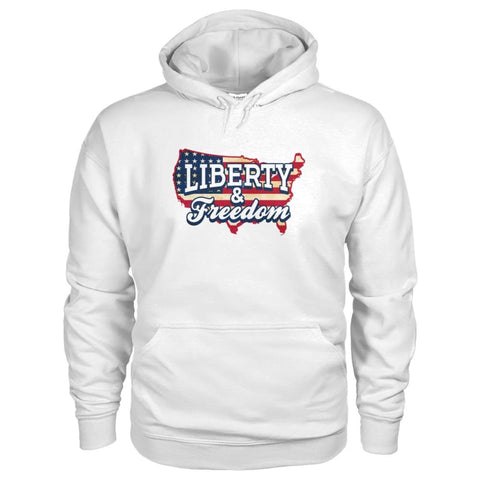 Image of Liberty & Freedom Hoodie - White / S - Hoodies