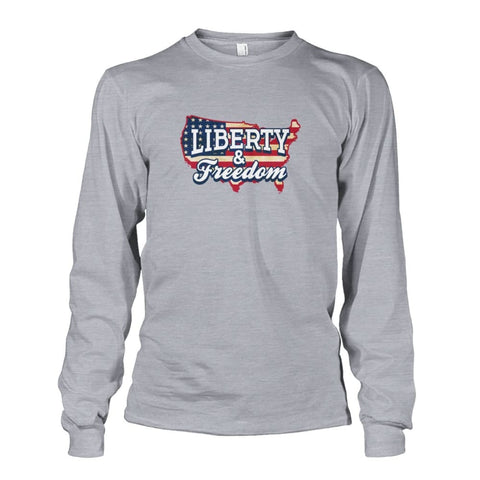 Image of Liberty & Freedom Long Sleeve - Sports Grey / S - Long Sleeves