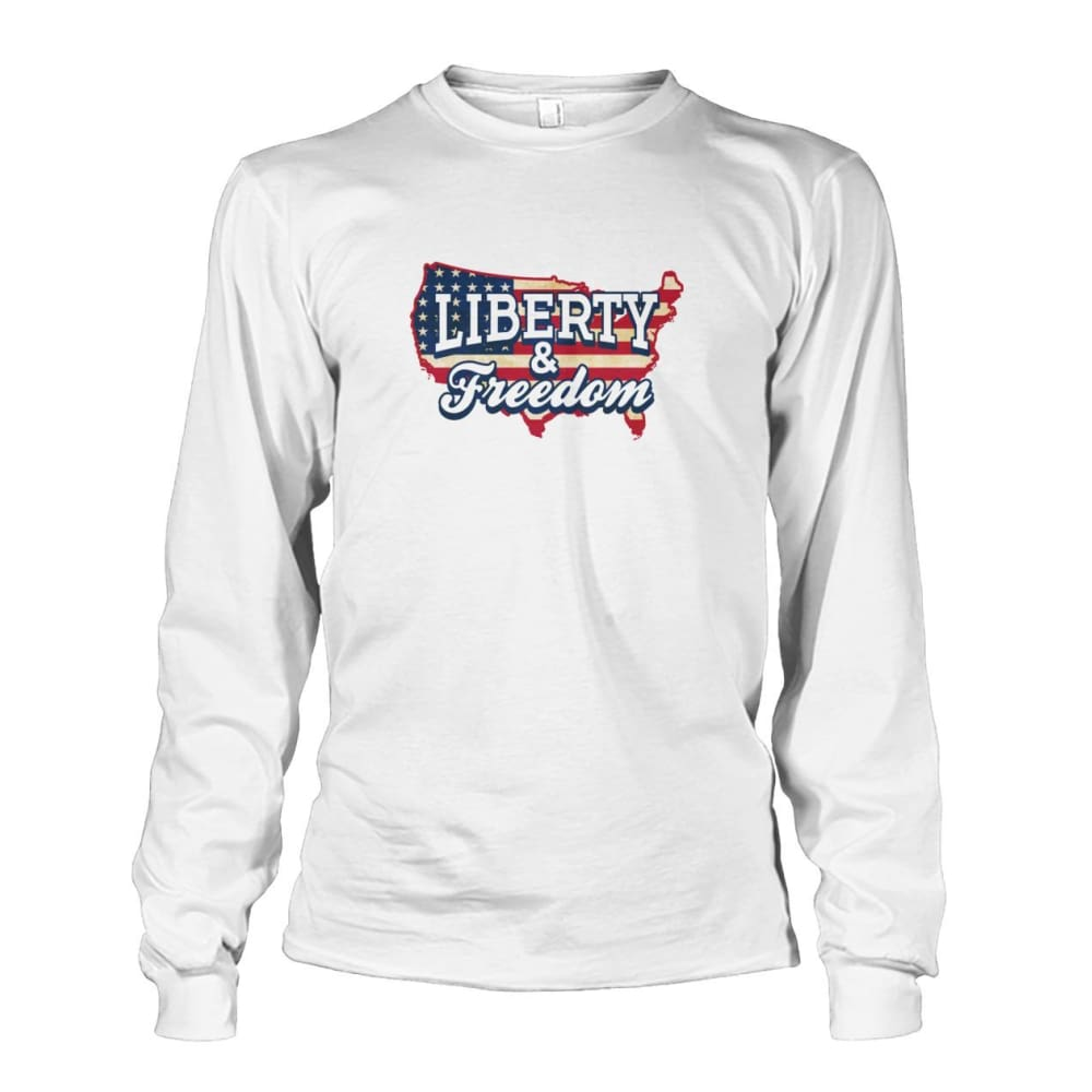 Liberty & Freedom Long Sleeve - White / S - Long Sleeves