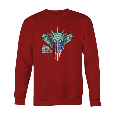 Image of Liberty Sweatshirt - Cardinal Red / S - Long Sleeves