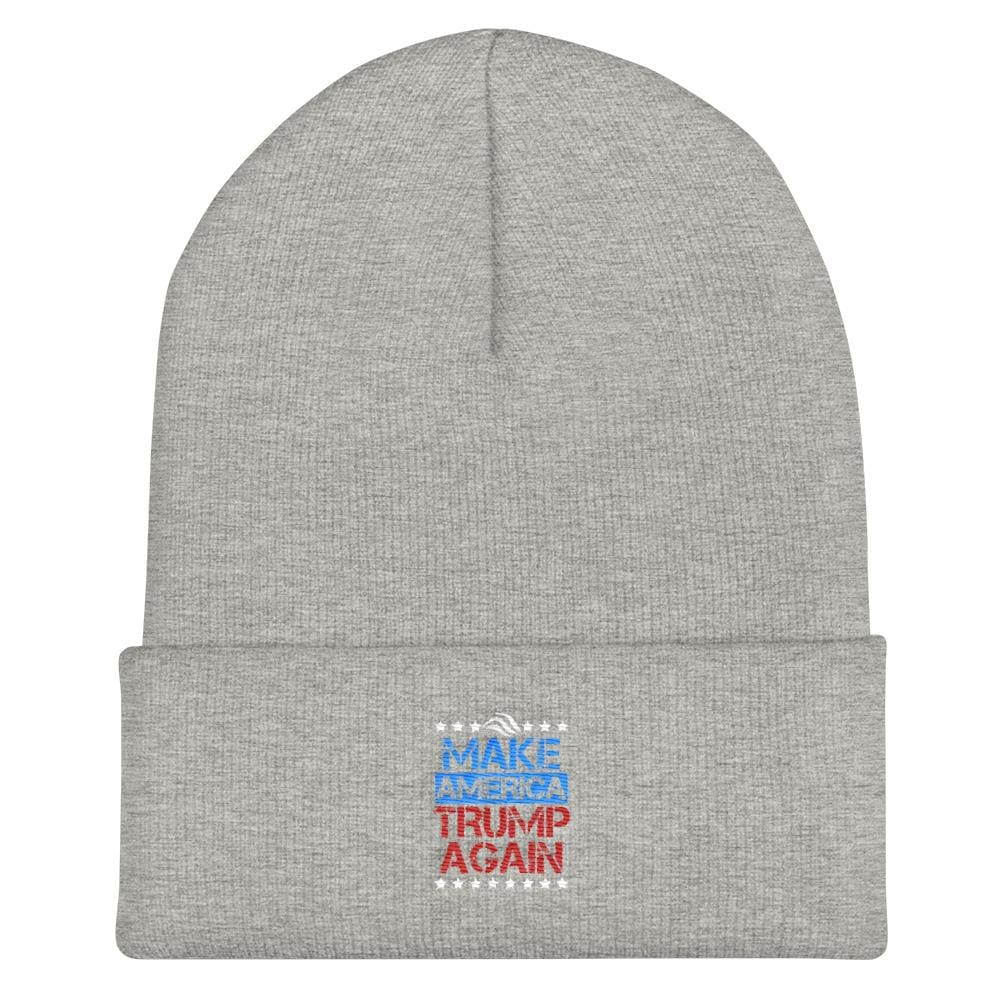 Make America Trump Again Cuffed Beanie - Heather Grey