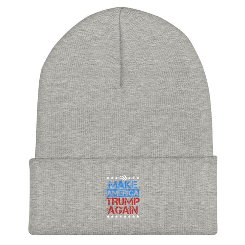 Image of Make America Trump Again Cuffed Beanie - Heather Grey