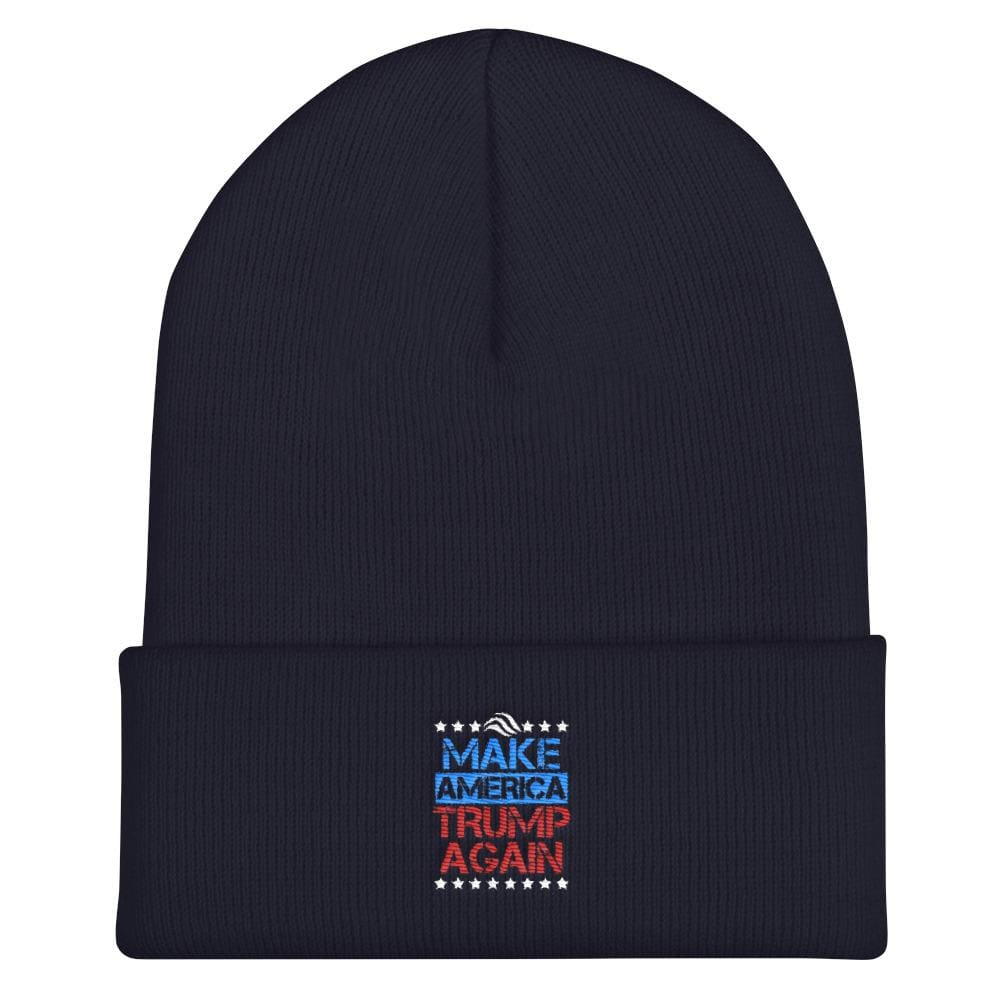Make America Trump Again Cuffed Beanie - Navy