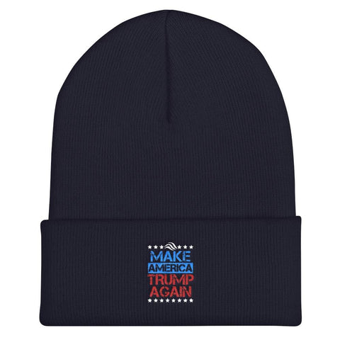 Make America Trump Again Cuffed Beanie - Black
