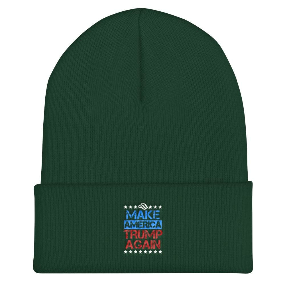 Make America Trump Again Cuffed Beanie - Spruce